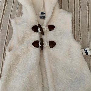 Other - Cream colored fur vest with toggle buttons